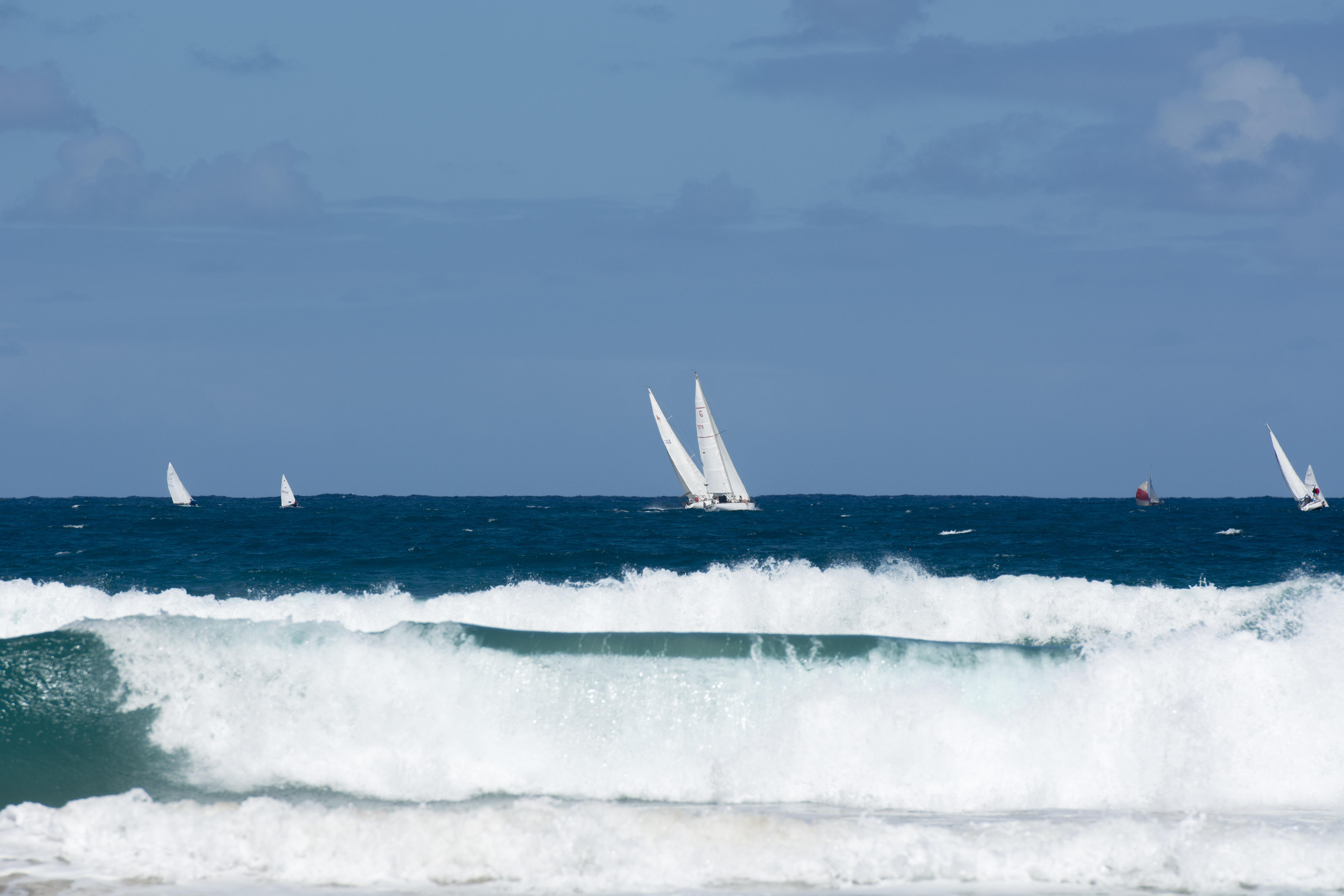 Blue sky and sails